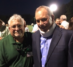 Danny Callies and Pat Sullivan Oct 2016 at the dedication of JCHS  Field as Pat Sullivan Field