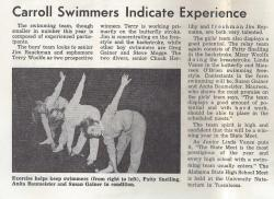 Swimmers   The Cavalier January 26, 1967