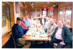 Fellowship night in Birmingham 2014. Jim Phillips, Ferris Ritchey, Greg Gainer, Don Giardina, Ben Schillaci, John Romano