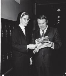 Sr Mary Grace and  Bob Potter