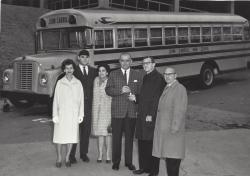 Joe Noser hands over keys to New Bus 03/30/67 Gaton Lorino