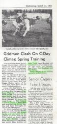 Gridmen Clash on C-day 03/31/1965