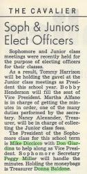 Sophomore Officers 10/29/1964