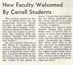 New Faculty 02/26/65