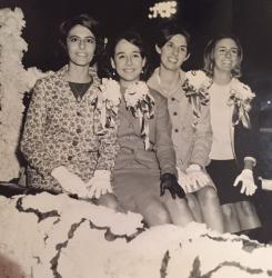 Homecoming 1966 Sponsors Pam Culotta, Rosemary Pumilla, Rosemary Renda, Beverly Buckland