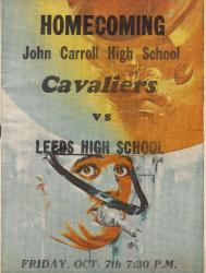 Homecoming 66 Football game program